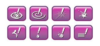 Ícones gráficos Fotos de Stock