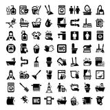 Ícones grandes da limpeza ajustados Imagens de Stock Royalty Free