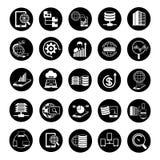 Ícones grandes dos dados Imagens de Stock Royalty Free