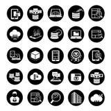 Ícones grandes dos dados Foto de Stock