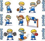 Ícones grandes dos esportes ajustados ilustração do vetor