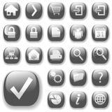 Ícones Gray_DropShadows do Web Imagens de Stock Royalty Free