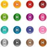 Ícones H Foto de Stock Royalty Free