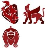 Ícones históricos Imagem de Stock Royalty Free