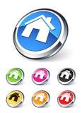 Ícones Home Imagens de Stock