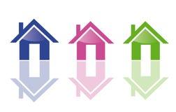 Ícones Home Fotografia de Stock