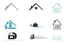 Ícones Home Imagens de Stock Royalty Free