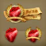 Ícones humanos dos corações ilustração royalty free