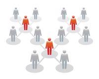 Ícones humanos Ilustração do vetor Equipe e líder do escritório Fotografia de Stock