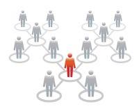 Ícones humanos Ilustração do vetor Equipe e líder do escritório ilustração do vetor