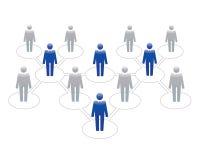 Ícones humanos Ilustração do vetor Equipe e líder do escritório ilustração stock