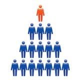 Ícones humanos Ilustração do vetor Equipe e líder do escritório ilustração royalty free