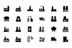 Ícones industriais 1 do vetor Imagem de Stock