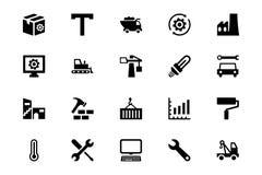 Ícones industriais 5 do vetor Imagens de Stock Royalty Free