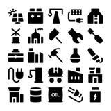 Ícones industriais 2 do vetor Imagens de Stock