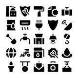 Ícones industriais 4 do vetor Imagens de Stock