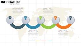 4 ícones infographic porções do vetor e do mercado do projeto podem ser uso ilustração stock