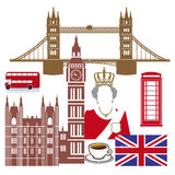 Ícones ingleses Imagem de Stock Royalty Free