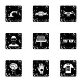 Ícones inovativos ajustados, estilo do dispositivo do grunge ilustração do vetor