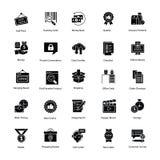 Ícones inovativos da compra e do comércio ilustração stock