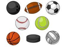 d415f7488 Bolas Do Esporte E ícones Dos Artigos Do Jogo Ajustados Ilustração ...