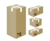 Ícones isométricos da cartão-caixa Fotografia de Stock Royalty Free