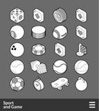 Ícones isométricos do esboço ajustados Fotos de Stock Royalty Free
