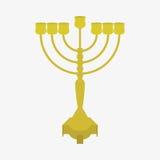 Ícones judaicos do Hanukkah do feriado ajustados Ilustração do vetor ilustração royalty free