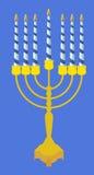Ícones judaicos do Hanukkah do feriado ajustados Ilustração do vetor ilustração do vetor