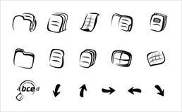 Ícones lineares Fotografia de Stock