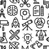 Ícones lineares do teste padrão da faculdade criadora imagem de stock