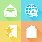 Ícones lisos coloridos da Web Fotografia de Stock Royalty Free