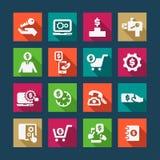 Ícones lisos da aptidão ajustados Imagem de Stock Royalty Free