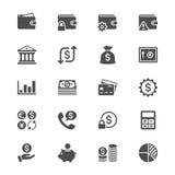 Ícones lisos da gestão financeira ilustração stock