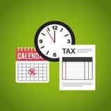 Ícones lisos do formulário de imposto ilustração stock