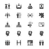 Ícones lisos do negócio Imagens de Stock