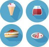 Ícones lisos do projeto ajustados elementos do molde para a Web Imagens de Stock