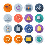 Ícones lisos do projeto para a interface de utilizador Fotos de Stock
