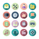 Ícones lisos do projeto para a interface de utilizador Imagens de Stock