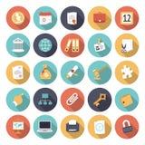 Ícones lisos do projeto para o negócio e a finança Imagem de Stock Royalty Free