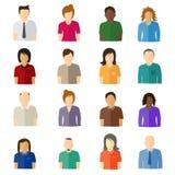 Ícones lisos do usuário de Minimalistic Fotos de Stock
