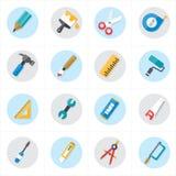 Ícones lisos para ilustração relacionada do vetor dos ícones das ferramentas Imagem de Stock