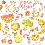 Ícones lisos redondos dos vegetais e dos frutos no coração Imagem de Stock Royalty Free