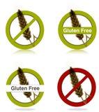 Ícones livres da dieta do glúten Imagem de Stock Royalty Free