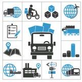 Ícones logísticos Fotografia de Stock