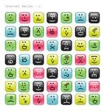 Ícones lustrosos das emoções. Fotografia de Stock Royalty Free