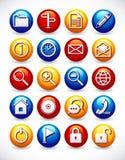 Ícones lustrosos do Web ilustração stock