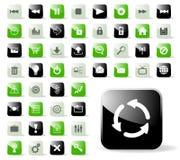 Ícones lustrosos do Web site ou da aplicação Imagens de Stock