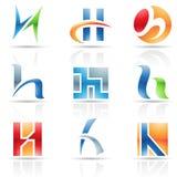 Ícones lustrosos para a letra H Imagem de Stock