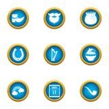 Ícones mágicos ajustados, estilo liso do estilo ilustração do vetor